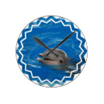 Lovable Dolphin Round Clock
